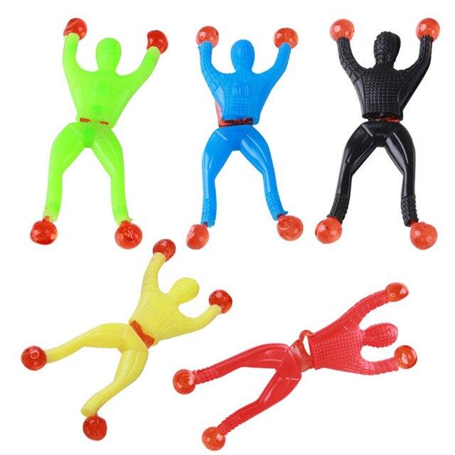 Productos novedosos de juguete slime Viscous escalada Spider-Man figura de acción de una pieza artilugios divertidos Hombre Araña de PVC para niños juguete de regalo