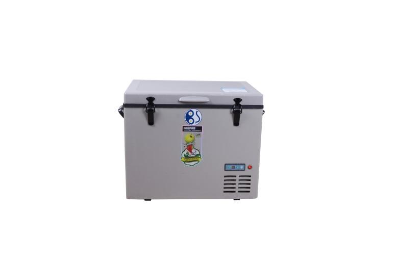 Frete grátis para os emirados árabes unidos 45l 12v-geladeira portátil com refrigerador solarpainel geladeira a energia solar