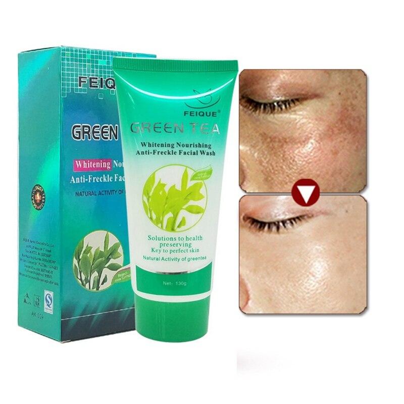 1 unid/2 uds/3 uds té verde Natural lavado facial blanqueamiento hidratante aligera imperfecciones antiarrugas crema cuidado de la piel