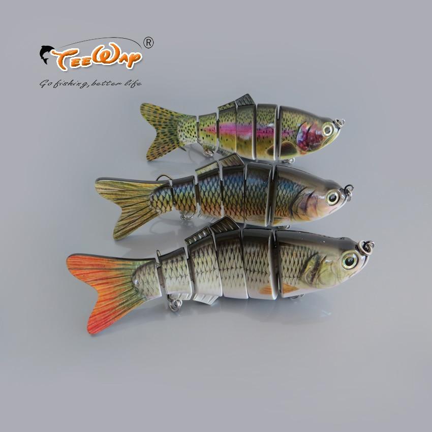 20 cm/120g señuelo de pesca realista 6 secciones swimbait Crankbait cebo duro lento pesca cebo anzuelo triple aparejo de pesca