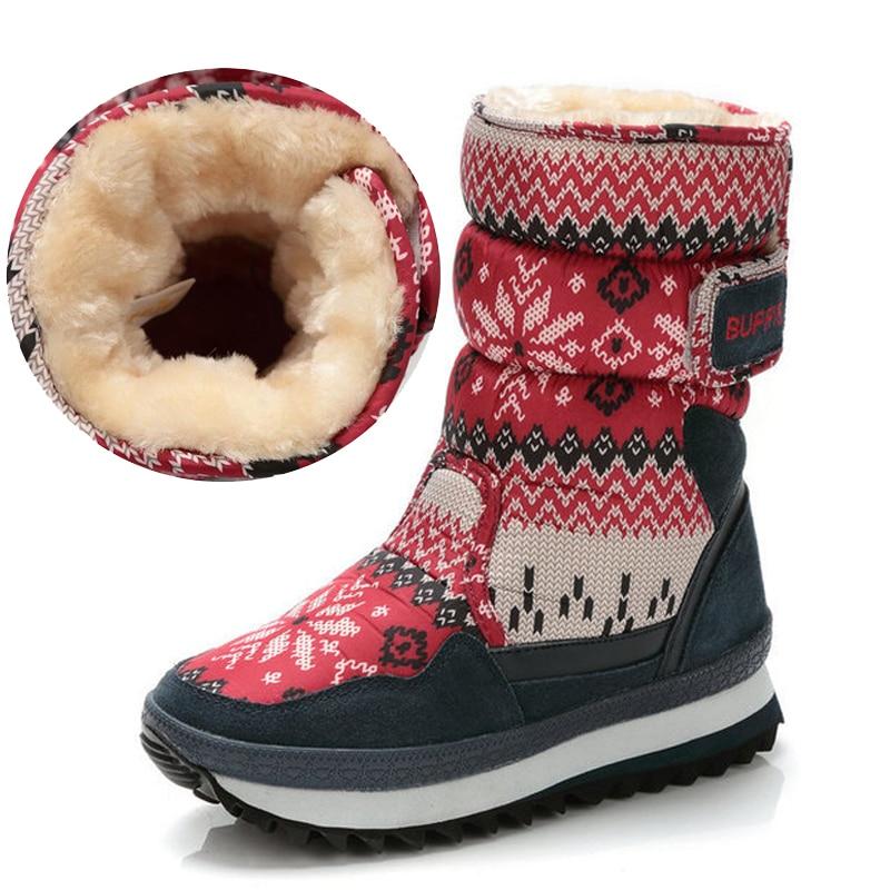 النساء أحذية الثلوج 2021 الشتاء أحذية النساء سميكة الفراء الدافئة عدم الانزلاق مقاوم للماء الوالدين والطفل أحذية الفتيات الشتاء الأحذية