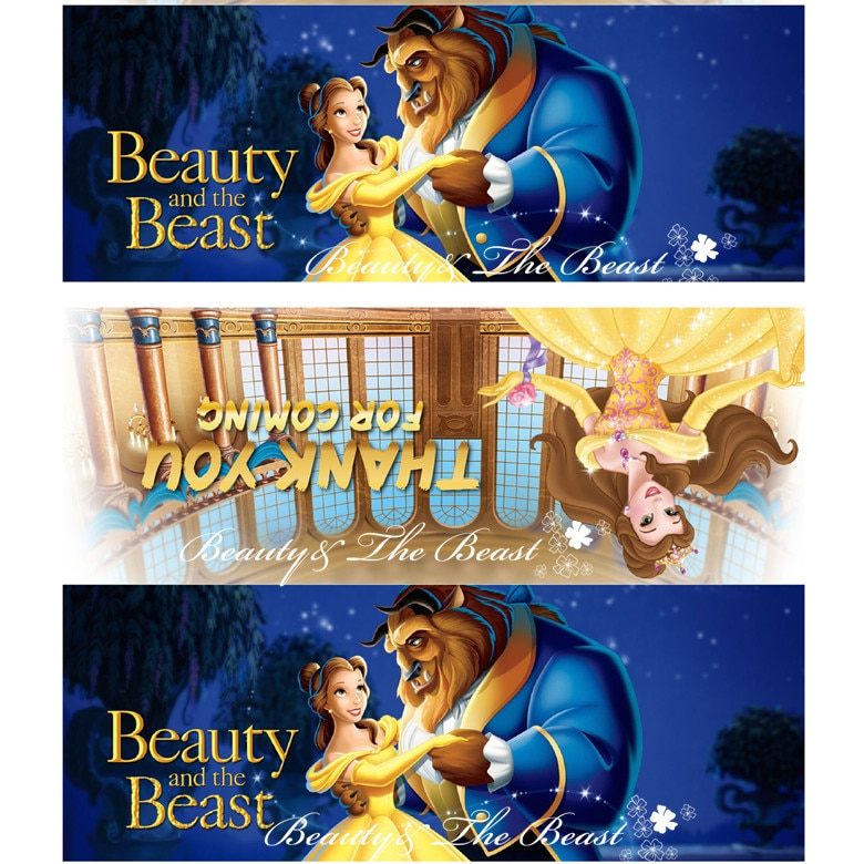 Customized Personalized Princess Beauty And The Beast Bag Toppers Food Labels Birthday party decorations kids Party supplies