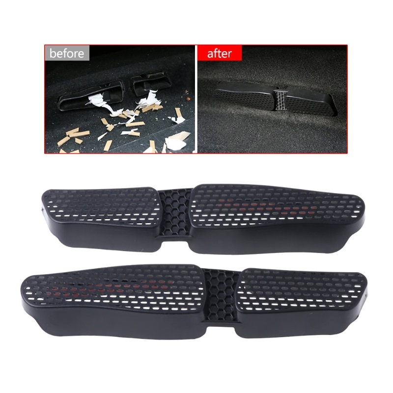 2 Pcs Car Rear Seat Air Condition Vent Outlet Cover ForVW Golf 7 MK7 Passat B8