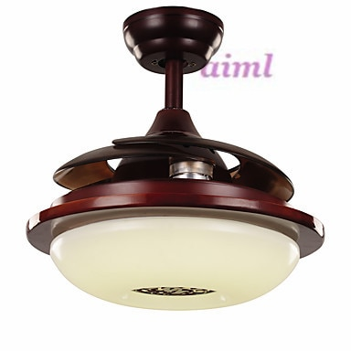 42inches 108cm Ceiling Fan Retro Country Nickel Feature for LED MetalLiving Room Bedroom Dining Room  - buy with discount