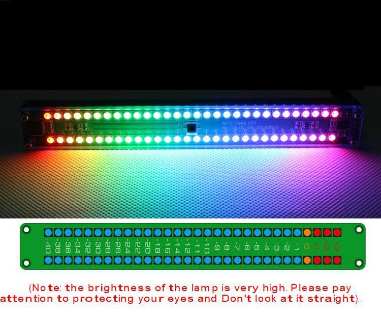 Двойной 30 цветной светодиодный индикатор уровня звука панель VU метр музыкальный спектр W Пульт дистанционного управления для автомобиля Усилитель