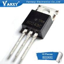 10 pièces BD243C TO220 BD243 100V 6A À-220 Bipolaire Transistors NPN À Usage Général nouveau original