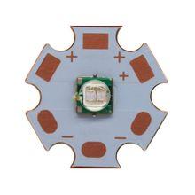 5 pièces Epileds 5050 5 w Pourpre UV 365nm/380nm/390nm/420nm Haute Puissance Led Émetteur sur 20mm Cuivre PCB