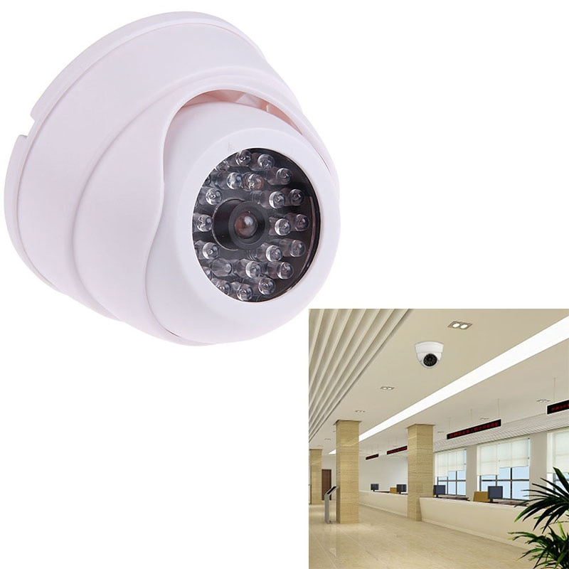 Smart Simulation Dummy Fake Camera with Flashing LED Light Indoor/Outdoor Security IP Camera Video S