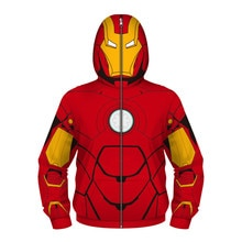 Frühling Herbst Jungen Jacke Mit Kapuze Sweatshirt Spiderman Ironman Superman Cosplay Kostüm Kinder Warme Outwear Mantel Kinder Kleidung