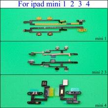 YuXi botón de encendido apagado interruptor de volumen Control Flex Cable cinta para iPad Mini 1 2 3 4 piezas de repuesto