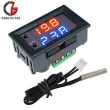 DC 12V LED Thermostat numérique Celsius Fahrenheit double Mode affichage régulateur de température W1209 WK étanche NTC sonde de capteur