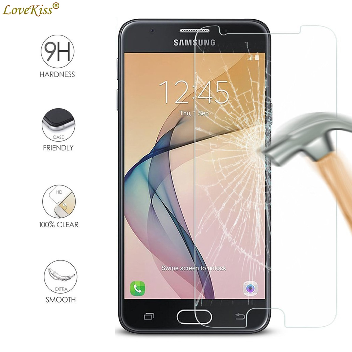 For Samsung Galaxy J5 Prime G570 G570Y On5 2016 SM-G570F J5Prime Screen Protector Film 9H Tempered G
