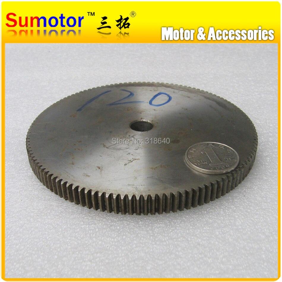 Spur Gear-ترس مسنن 1M 120 T 120 ، عرض 1 ، تجويف 10 مللي متر ، لا يزيد عن 12.3 مللي متر ، أسنان قائمة 45 # ، نقل روبوت CNC