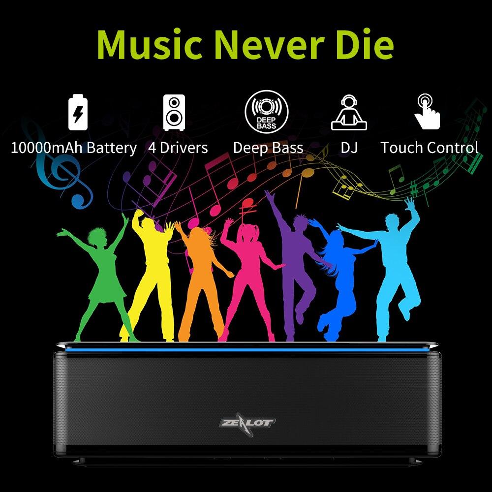 Potente altavoz inalámbrico Bluetooth subwoofer 4 altavoces Hifi estéreo música Home Theater sonido sistema altavoces portátiles