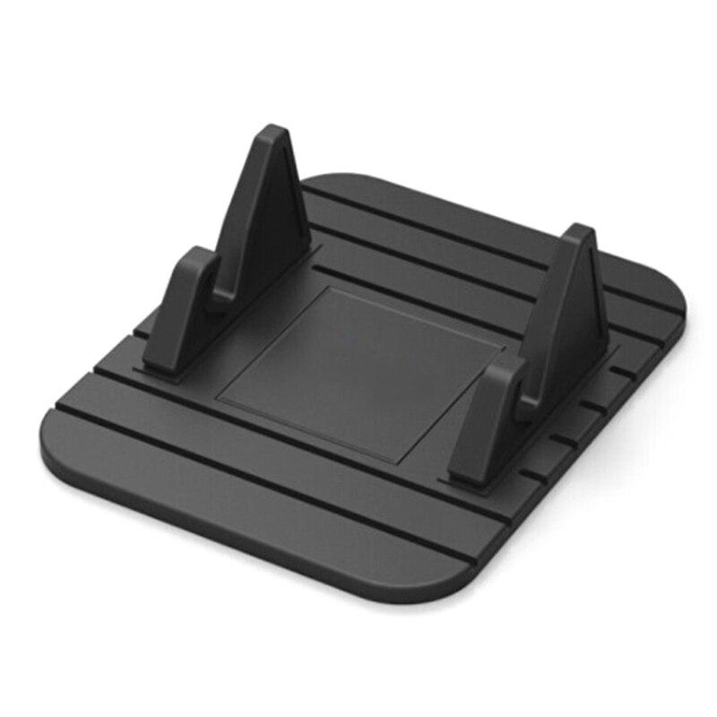 Soporte de coche para teléfono móvil con GPS, alfombrilla de silicona suave antideslizante, soporte de escritorio para iPhone 7X8 Samsung Note 9, accesorios de coche