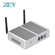 XCY X32 bez wentylatora Mini komputer Intel Pentium 4405U HDMI VGA 6 * USB 300 mb/s WiFi HTPC mikro komputer stacjonarny NUC Windows 10 Linux