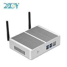 Xcy x32 fanless mini pc intel pentium 4405u hdmi vga 6 * usb 300 mbps wifi htpc micro desktop computador nuc windows 10 linux