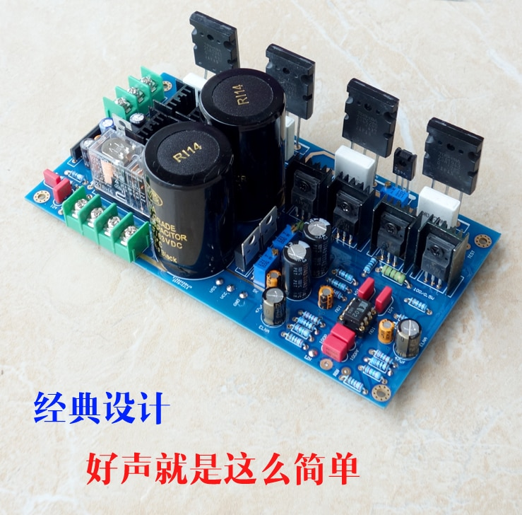 A8 20 w kit placa de amplificador de potência pura classe A amp op/terminou bordo