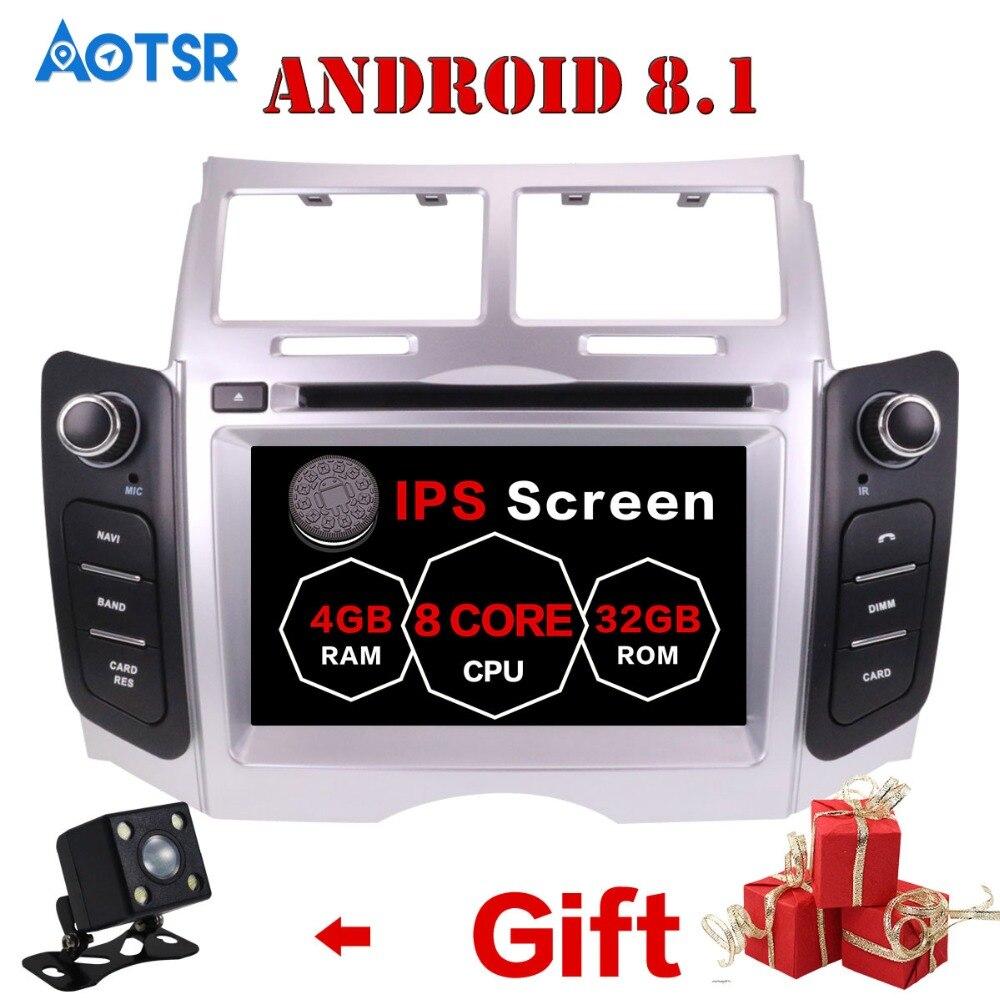 Reproductor DE DVD para coche con sistema Android 9,0, navegación GPS para Toyota Yaris 2005-2011, unidad central Multimedia, Monitor DE autorradio, Mapa