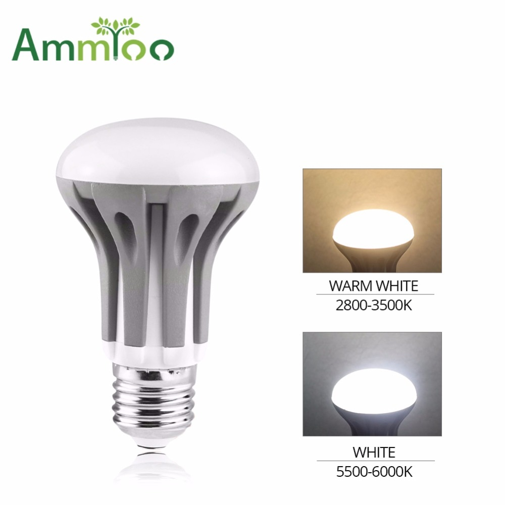 AmmToo E14 E27 Luz LED 3W 5W 7W bombilla Led R39 R50 R63 lámpara LED Spot Light AC 220V 110V lámpara para la iluminación de la araña del hogar