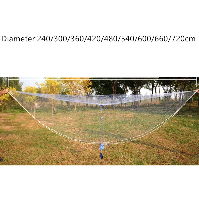 D600cm-D720cm usa style hand cast net no ring fish trap fishing net fishing network rede de pesca Fishing supplies outdoor tool enlarge