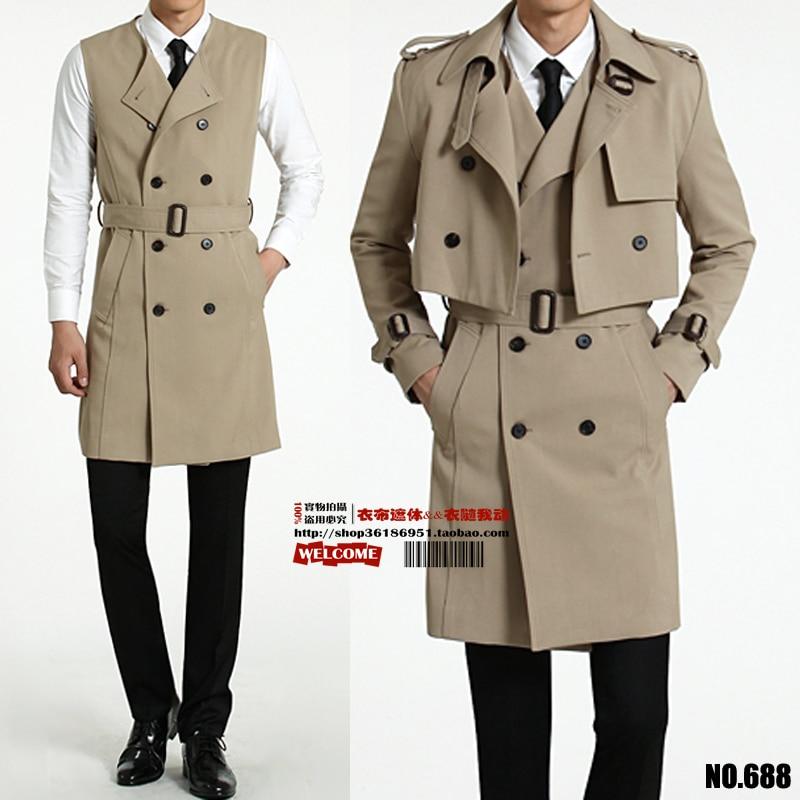 S-6XL!!!! معطف واق من المطر من قطعتين للرجال ، سترة طويلة جديدة ، معطف صغير ، أزياء ترفيهية ، ملابس رجالية ، موضة 2018