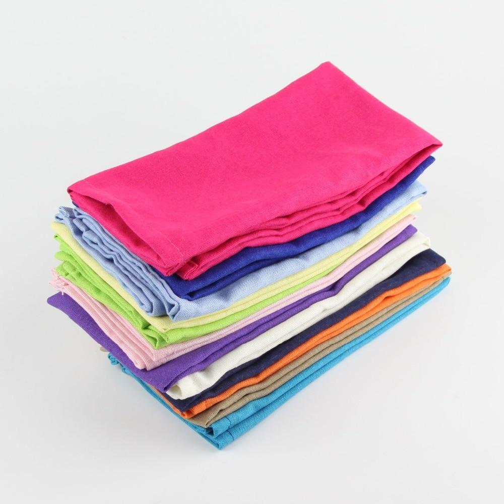 Cloth linen cotton Napkins Set of 12 pcs placemat heat insulation mat dining table Cloth table Napkin fabric placemats