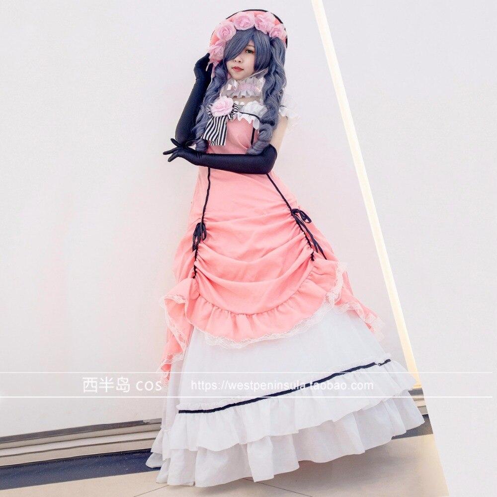 Negro Butler Ciel Phantomhive Cosplay traje de Manga Kuroshitsuji vestido traje Cosplay