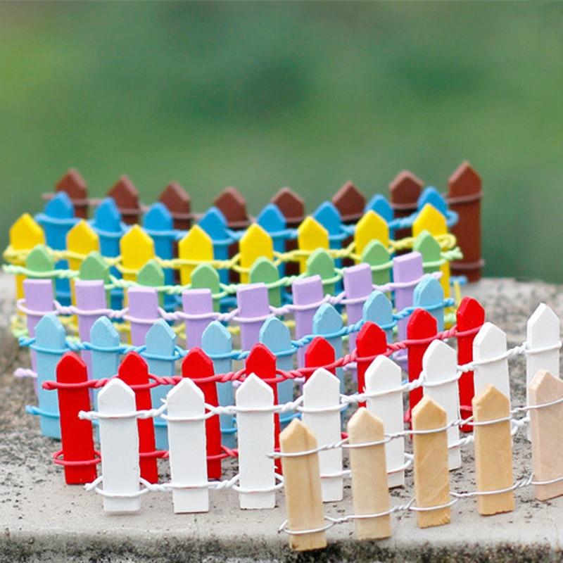 1000 шт. суккуленты, мох, микро-ландшафтное украшение, забор, маленький деревянный забор, мягкий мох, забор, Садовые принадлежности