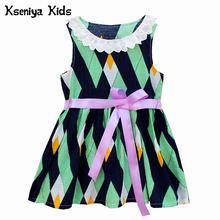 Kseniya Kids Baby Girl Clothes Dresses Cotton Lace Ribbons Summer Print Baby Dresses Girl Wedding Party 1 Year Birthday Dress