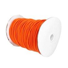 Corda elástica 4mm x 5m, alta tenacidade, bungee/cabo de choque, amarração, corda marinha, laranja