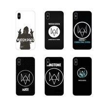 For Huawei G7 G8 P7 P8 P9 P10 P20 P30 Lite Mini Pro P Smart Plus 2017 2018 2019 Transparent TPU Skin Case game watch dogs symbol