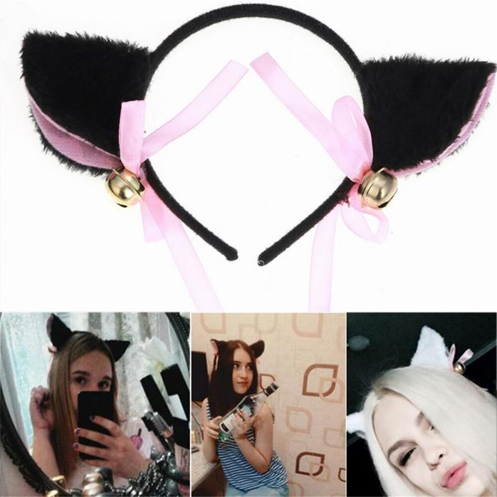 1Pcs Lovely Night Party Club Bar Decorate Headbands Plush Cat Fox Fur Ear Hairband Girls Cosplay Costume Cat Ear Headwear
