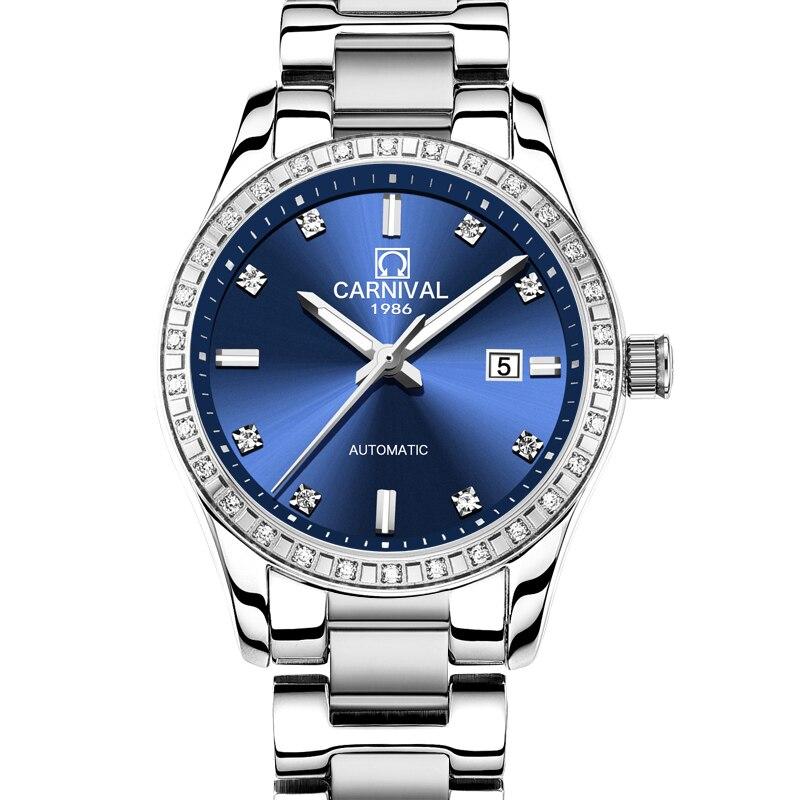 Switzerland Carnival Women Watches Luxury Brand ladies Automatic Mechanical Watch Women Waterproof relogio feminino 8685L-5 enlarge
