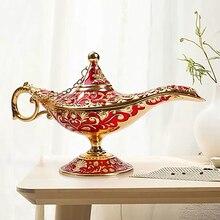 Lamp Hollow Carved  Lamp Russian Wishing Tea Oil Pot Vintage Lamp Light Christmas Halloween Gift Decor