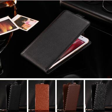 Prix usine, Top qualité nouveau style flip étui en cuir ouvert haut et bas pour OUKITEL K6000 Pro, Litchi Texture blac marron