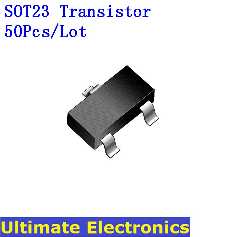 50 Stks/partij Smd SOT23 Transistor S9012 S9013 S8050 S8550 BAV99 2N3904 2N3906 A42 A92 2N2222 2N2907 C1815 BAT54 BC807 BC817 TL431