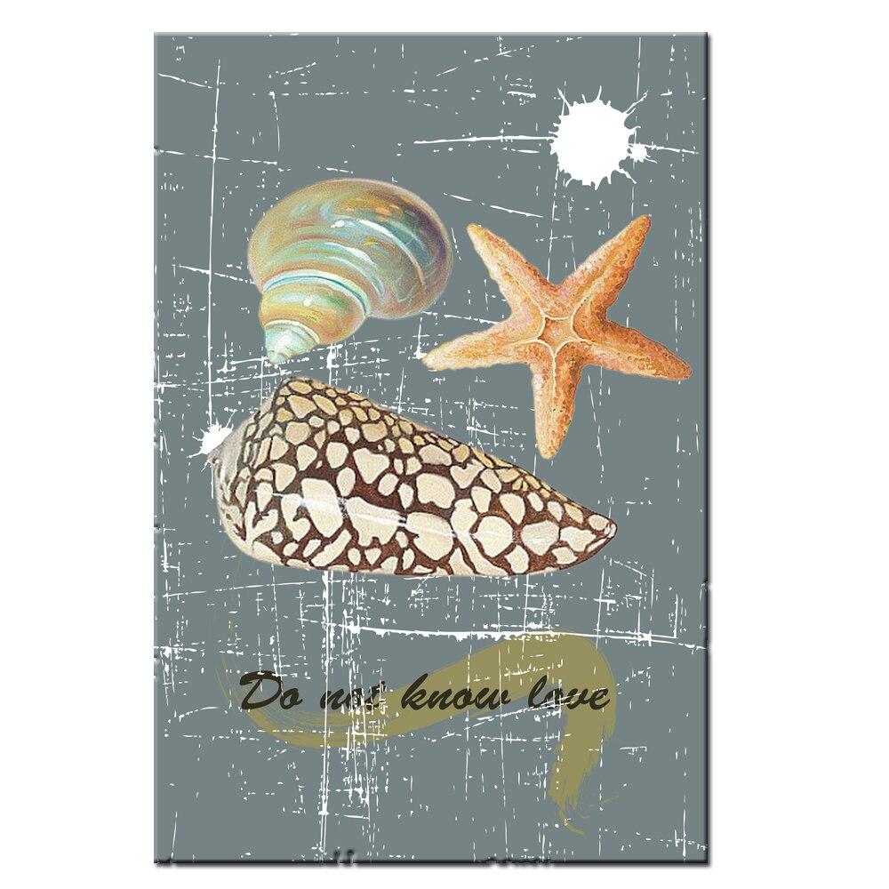 Печать на холсте Ретро картина морская Морская звезда картина Печать на холсте плакат для домашнего декора без рамки