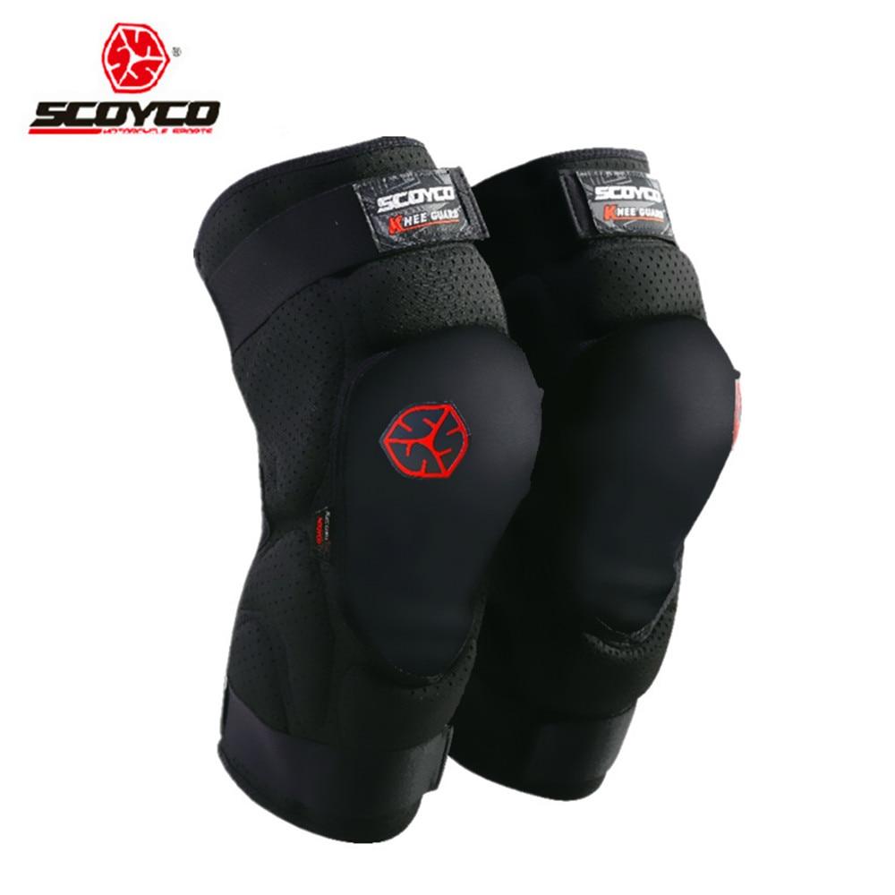 Equipo de rodilleras protectoras suaves para motocicleta scoyco Protector de rodilleras para bicicleta MTB protectores de carreras almohadillas deportivas para montar en esquí