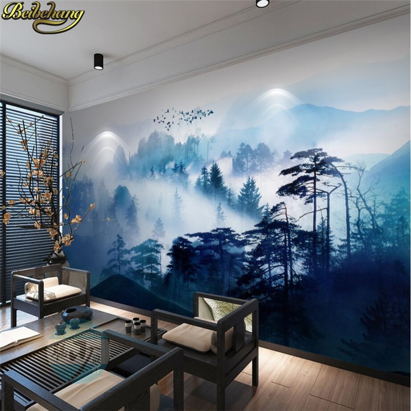 beibehang pastoral flowers wallpaper for walls 3d wall paper for wall 3 d classic embossed tv room bedroom wall paper home decor beibehang wall-paper Ink painting photo wall mural wallpaper for walls 3 d wall paper for living room TV background stickers