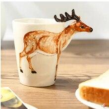 Tasse à café stéréo en 3D peint à la main   Tasse de café en céramique, en os de chine, bar, maison de bureau