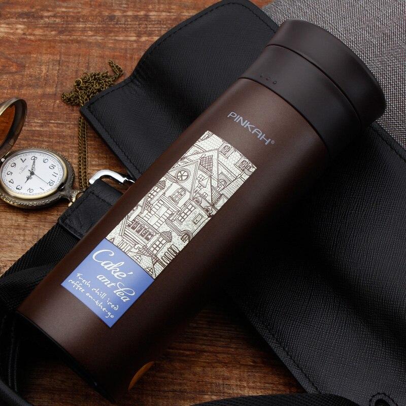 Térmico para Chá e Café Caneca de Viagem com Filtro Copo de Água Térmica para Escritório Presentes do Copo Pinkah Caneca Térmica Isolada Copo 500ml
