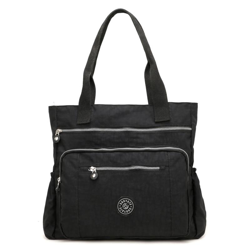 New Women Handbag Casual Large Shoulder Bag Fashion Nylon Big Capacity Tote Purple Messenger Bags Waterproof Crossbody Bags
