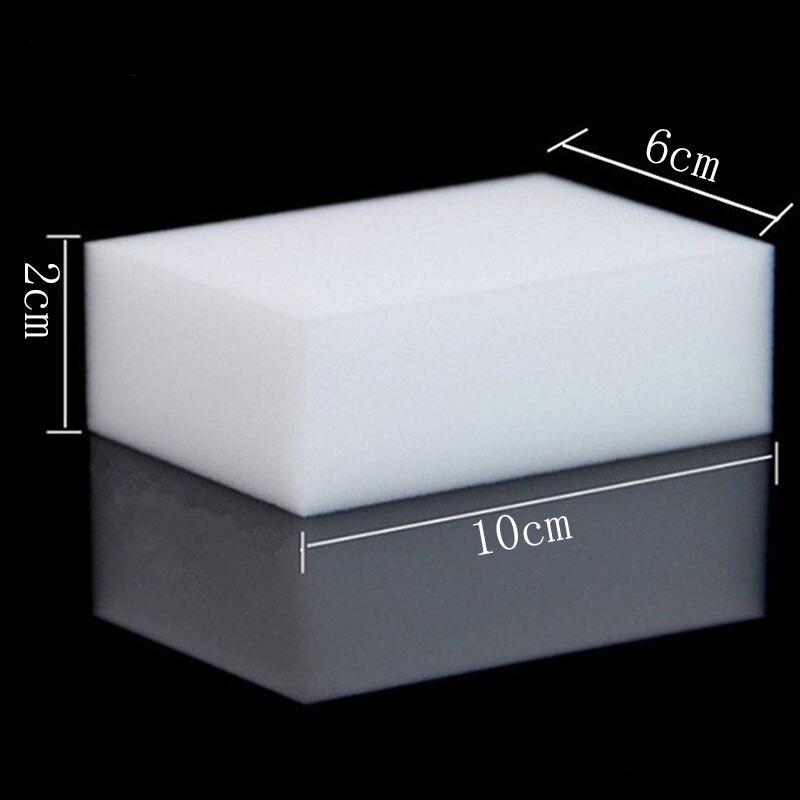 1 Uds 100x60x20mm blanco mágico Limpieza de platos exfoliante comprimido borrador melamina esponja cocina baño accesorios G