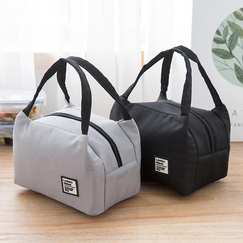 Bolsa de lona aislante para mujeres, niños y hombres, bolsa térmica para enfriar comida, bolsas para el almuerzo, bolsas de transporte con asa impermeable # YL5