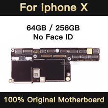 Pas dicloud pour la carte mère iPhone X 64 GB/256 GB sans identification faciale, débloqué pour la carte mère de la carte mère iPhone X avec système IOS