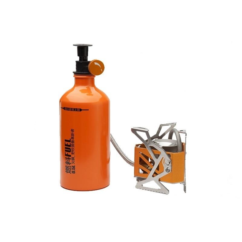 Estufa de combustible de gasolina de aceite dividido para Camping barbacoa al aire libre de peso ligero con botella de combustible de 0,5 l equipo de Picnic FMS-F3