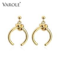 varole dangle knot earrings gold color earings drop earrings for women fashion jewelry brincos oorbellen ohrringe