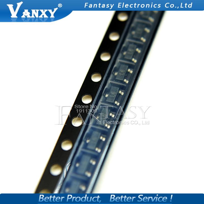 100 шт., 2SC1623-L6 SOT-23 2SC1623 L6 NPN силиконовые эпитосные Транзисторы, новые и оригинальные