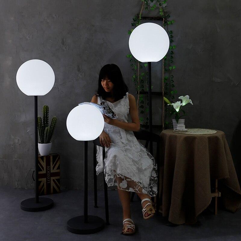 Balón con Control remoto, luz nocturna LED recargable para interiores y exteriores, RGB, resistente al agua, para dormitorio, Bar, mesa de comedor, lámpara de bola